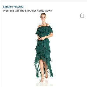 Badgley Mischka Women's Off the Shoulder Gown